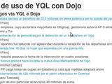 Exemplo de uso de YQL con Dojo